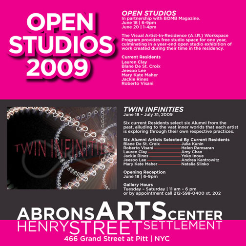 OPEN STUDIOS-TWIN INFINITIES